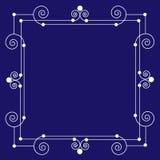 装饰葡萄酒框架背景 免版税库存照片