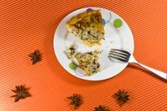 装饰蜂蜜饼鲜美wallnut黄色 库存图片