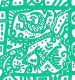 装饰蜥蜴和抽象海装饰品 免版税图库摄影