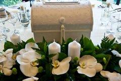 装饰表婚礼 库存照片