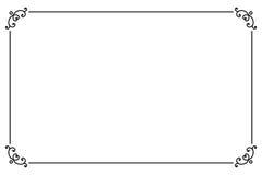 装饰装饰页框 传染媒介线型边界模板 免版税库存照片