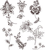 装饰要素花卉集 库存照片