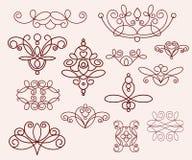 装饰设计元素,系列 browne 皇族释放例证