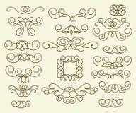 装饰设计元素,系列 browne 库存例证