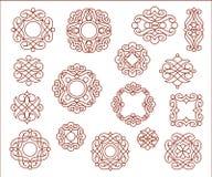 装饰设计元素,系列 browne 向量例证