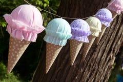 装饰诗歌选冰淇凌 库存照片