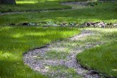 装饰走道在公园 库存照片