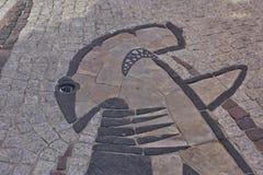 装饰路面在波尔图Rotondo -撒丁岛 图库摄影