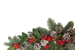 装饰边界的圣诞节 免版税库存图片
