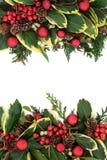 装饰边界的圣诞节 库存照片