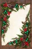 装饰边界的圣诞节 免版税库存照片