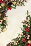 装饰边界的圣诞节 库存图片