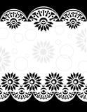 装饰边界black-white_center 免版税库存照片