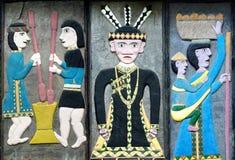 装饰部族石的台湾 库存图片