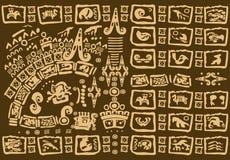 装饰部族背景 免版税库存照片