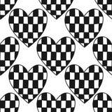 装饰重点 彩图或页的黑白例证 无缝的样式,爱背景 库存图片