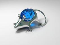 装饰金刚石珠宝鼠标 库存图片