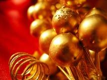 装饰金子红色 免版税库存照片