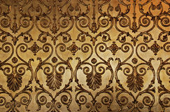 装饰金黄墙壁 免版税图库摄影