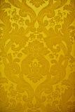 装饰金黄纹理墙纸 免版税库存图片