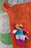 装饰钩针编织的羊毛 免版税库存图片