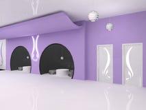 装饰门内部现代紫罗兰 免版税库存图片