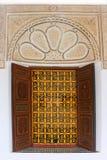 装饰门在摩洛哥 库存图片