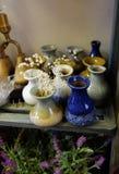 装饰陶瓷花瓶 库存照片