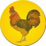 装饰雄鸡的马赛克 免版税库存图片