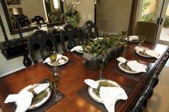 装饰餐桌 库存照片