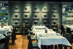 装饰餐馆墙壁 库存照片