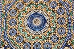 装饰马赛克在梅克内斯麦地那,摩洛哥 图库摄影