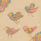 装饰鸟和花 免版税图库摄影