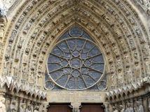 装饰,兰斯大教堂,法国 免版税库存图片