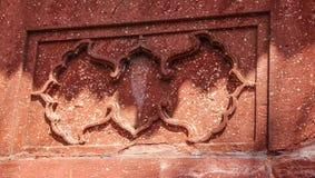 装饰细节在清真寺的泰姬陵门的 免版税库存照片