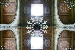 装饰细节在Dohany犹太教堂,布达佩斯, Hungar里面的 库存照片