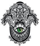 装饰hamsa 皇族释放例证