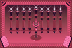 装饰illustratio menorah 皇族释放例证