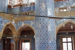 装饰Rustem巴夏清真寺的马赛克 免版税库存照片