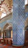 装饰Rustem巴夏清真寺的马赛克 免版税库存图片