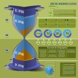 装货时间infographics 免版税库存图片