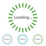 装货的圆的绿色标志 传染媒介圆的预紧器 免版税库存照片