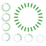 装货绿色圆的徽章  免版税图库摄影