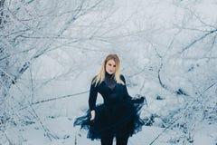 裙子捆绑的少妇金发碧眼的女人 图库摄影