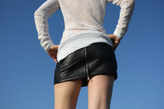 黑裙子 免版税库存照片