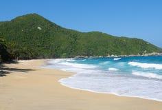 裸体主义者海滩, Tayrona国家公园,哥伦比亚 库存照片