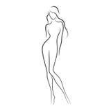 裸体妇女 免版税库存照片