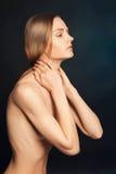 裸体性感的妇女 免版税图库摄影