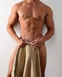 裸体男性躯干 免版税库存照片