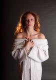 裸体红头发人 免版税库存照片